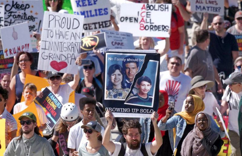 Miles de angelinos advierten que son más que Trump y afirman que lo van a frenar