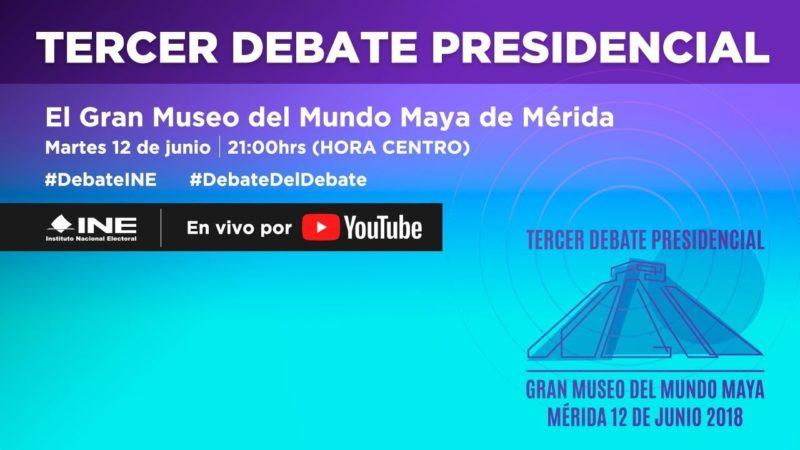 #EnVivo | Anaya y Meade llegan al #DebateINE cubeta en mano; AMLO, con 20 a 25 puntos en la bolsa