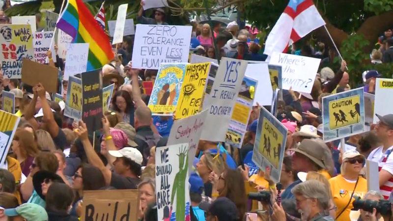 Protestas en todo EU exigen la reunificación de familias inmigrantes y la abolición del Servicio de Inmigración