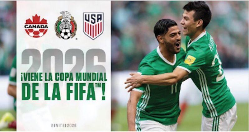 México, Estados Unidos y Canadá serán las sedes para el Mundial de Futbol de 2026, decide la FIFA en Moscú