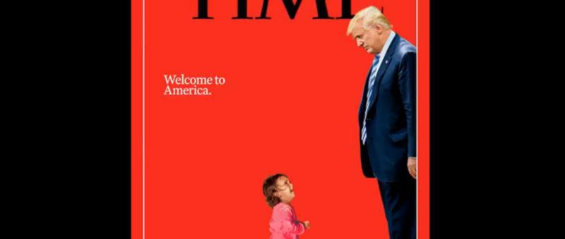 """Trump da """"bienvenida"""" a niña migrante en la portada de la revista Time"""