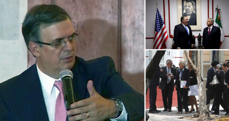 "Video: ""Optimismo razonado"": Ebrard; AMLO dio a enviados de Trump plan que incluye Centroamérica"