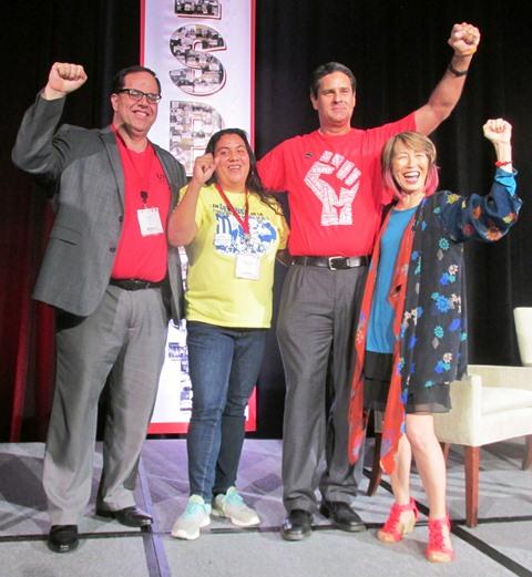 Videos: Líderes de exitosos movimientos de huelga de maestros, de Puerto Rico y Arizona, dan consejos y brindan solidaridad a sus colegas angelinos, quienes pretenden emularlos