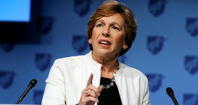 Randi Weingarten, lideresa del sindicato nacional de maestros AFT, convoca a sus 1.7 millones de miembros a unirse, fortalecerse y fundirse con la comunidad para luchar contra el autorismo y crueldad de Trump