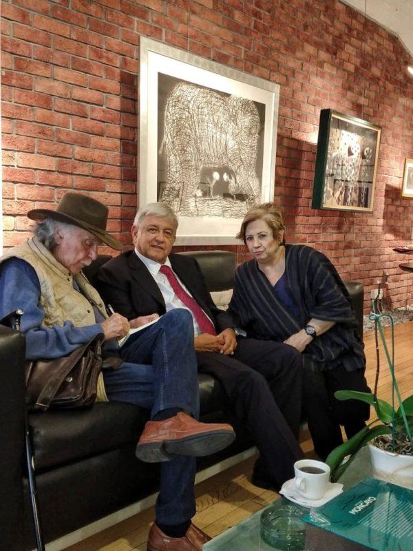 López Obrador visita La Jornada