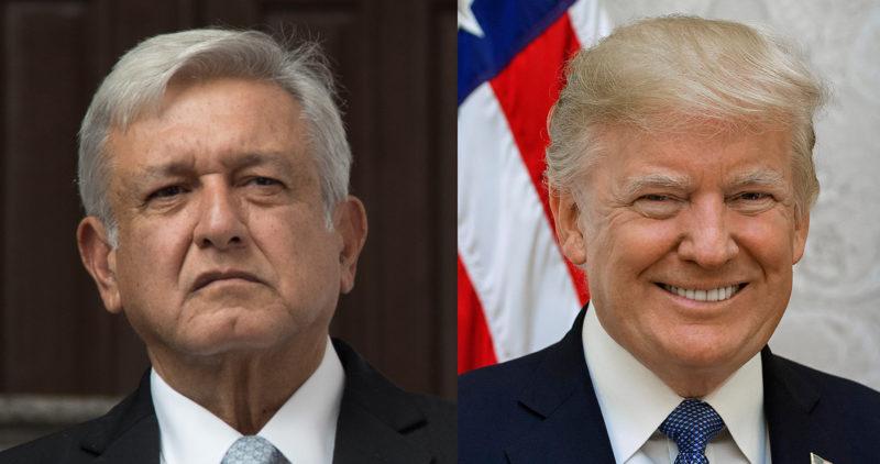 Video:Trump coquetea con AMLO y dice que su país busca un tratado exclusivamente con México
