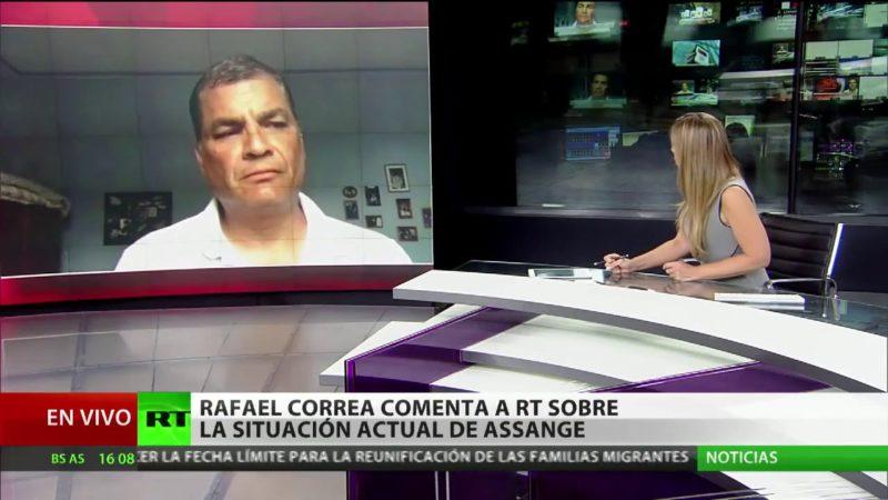"""Correa a RT sobre Assange: """"Moreno habla de diálogo, pero está todo acordado con Washington"""""""
