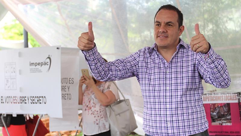 Morena va ganando las gubernaturas de Tabasco, Chiapas, Morelos, Veracruz y la jefatura de gobierno de la Ciudad de México.