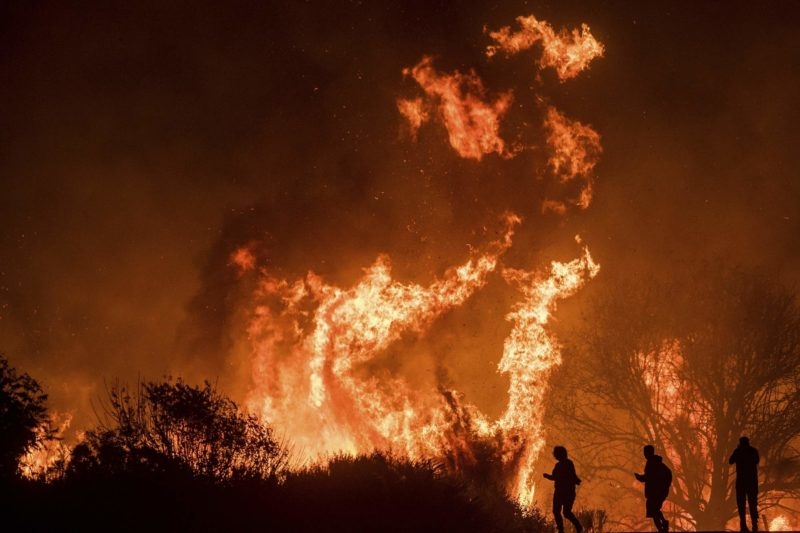 El intenso calor dificulta combate a más de una docena de incendios foestales. Gobernador Brown declara estado de emergencia