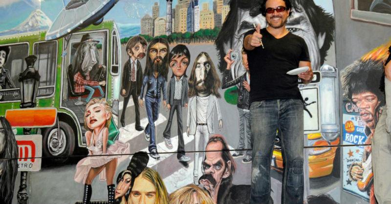Flores Manjarrez: ilustrador y poeta… el muralista que le pone arte y rock al Metro de la CdMx