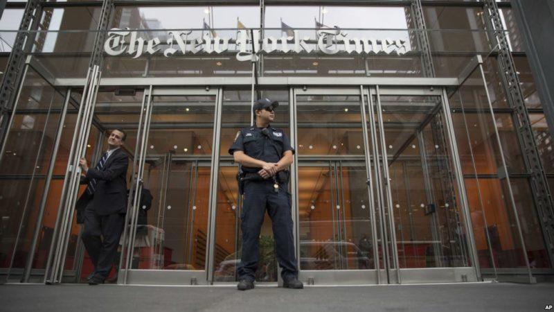 """""""Lenguaje incendiario de Trump contra medios contribuye a un aumento de amenazas contra los periodistas y conducirá a la violencia: editor de The New York Times"""