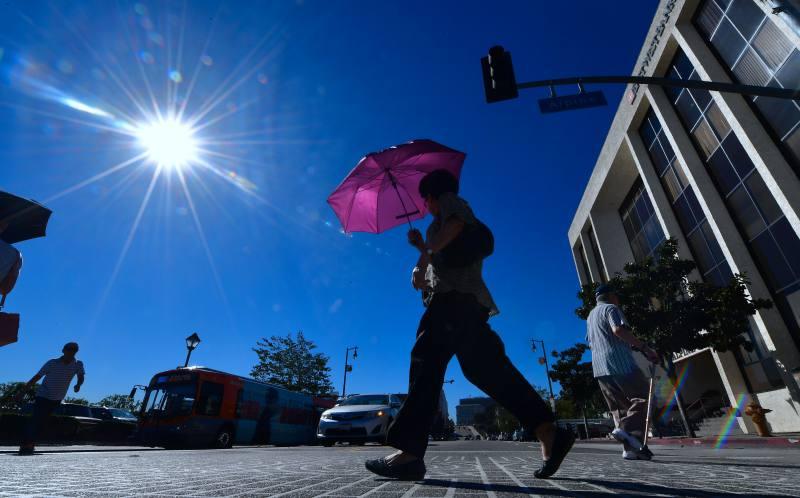 Temperaturas récord en diversos sitios de California. La máxima, de 117 grados Fahrenheit , 42,5 grados centígrados