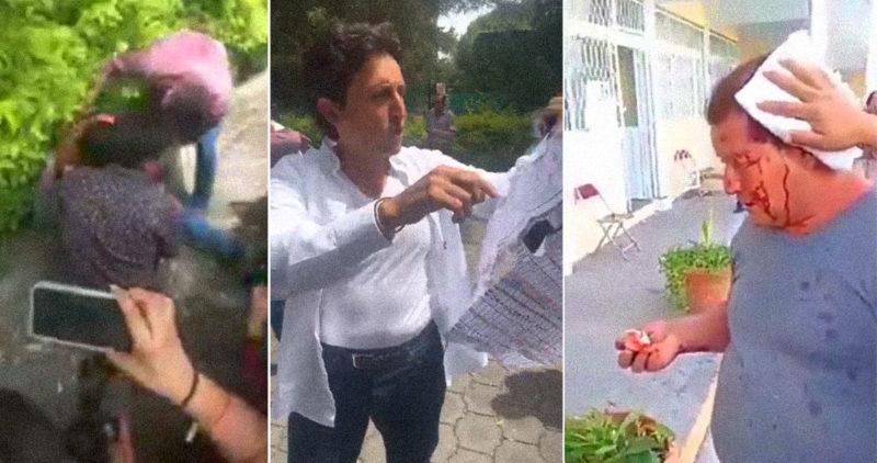 Video: Morena dice que reventó un nido con actas falsificadas en un hotel de Puebla; estalla la violencia