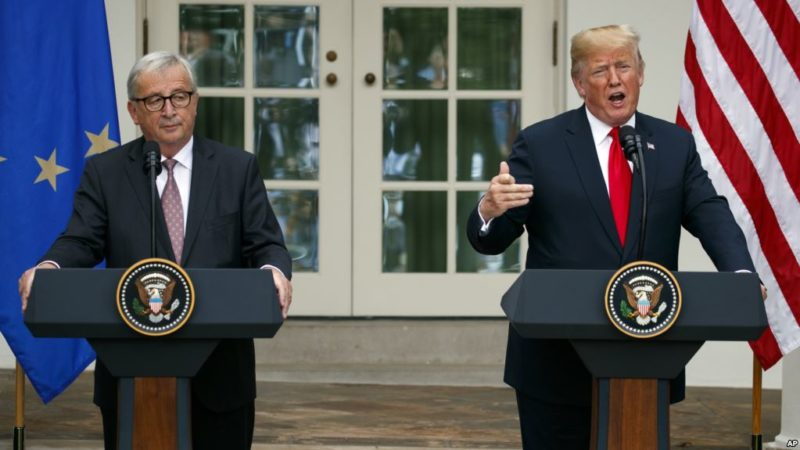 Trump y líderes europeos superan tensiones comerciales