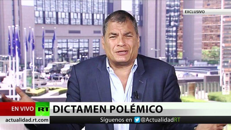 """Videos: Correa a RT: """"La estrategia hacia mí es matarme, meterme preso o impedir mi regreso a Ecuador"""""""