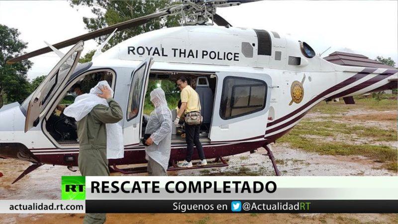 Videos: Rescatados los niños futbolistas y su entrenador de la cueva en Tailandia, donde estuvieron 17 días
