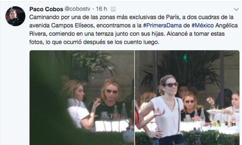 Video: Guadaespaldas de la Primera Dama, Angélica Rivera, borraron imágenes e intentaron quitar el celular al reportero que la captó en París