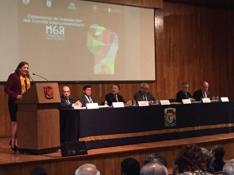 Instalan Comité de universidades por 50 aniversario del movimiento del 68