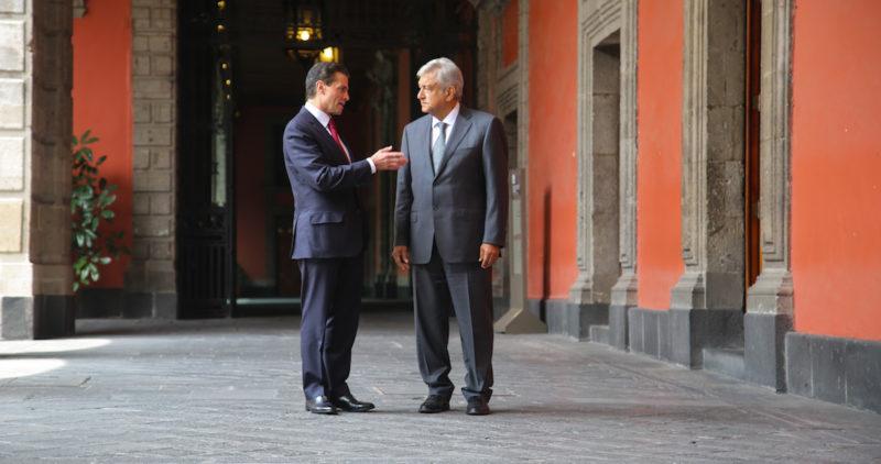 AMLO y EPN confirman reunión para hoy en Palacio Nacional a fin de abordar temas de la transición