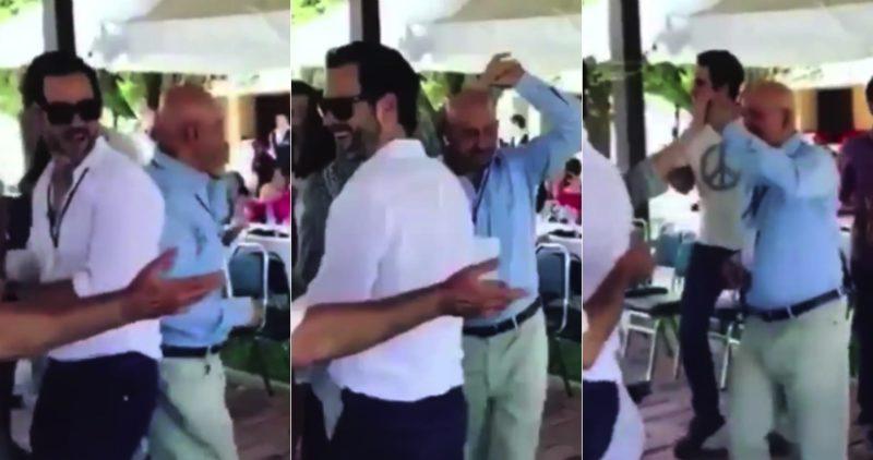 """Video: El ex Presidente Carlos Salinas de Gortari baila así: """"Tiburón, tiburón, tiburón a la vista…"""""""