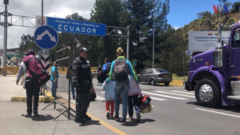 Videos: Ecuador abre canal humanitario para venezolanos que van a otros destinos