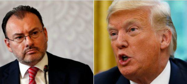 "Video: Muro ""será pagado finalmente por México"": Trump; Videgaray lo rechaza"