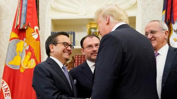 Trump y Peña Nieto anuncian pacto entre EU y México rumbo a nuevo TLCAN; falta Canadá