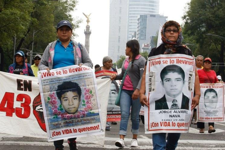 Los 43, símbolo de desapariciones en México: ONU-DH