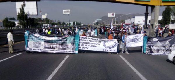 Bloqueadas, en ambos sentidos, la autopista México-Puebla y la México-Querétaro