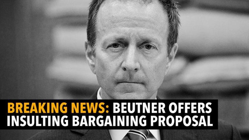"""El superintendente Beutner, al través de Los Angeles Times, hace una oferta limitada al sindicato de maestros para que eviten una huelga. Es rechazada y calificada de """"insultante"""", """"inútil"""" e """"inaceptable"""""""
