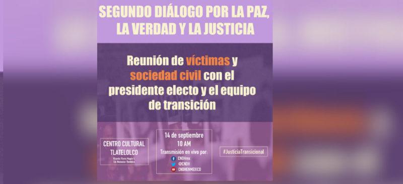 """En vivo: AMLO encabeza el segundo diálogo """"Por la paz, la verdad y la justicia"""""""