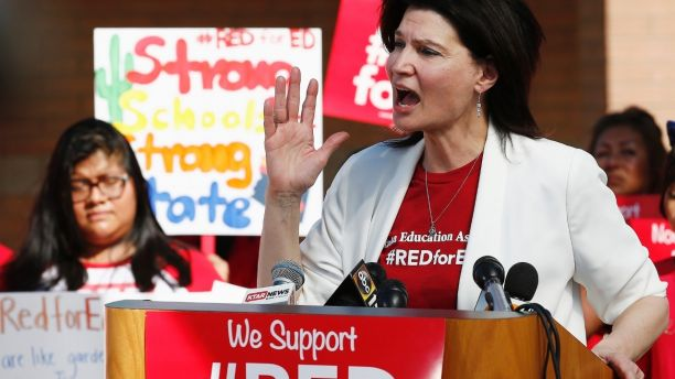 NEA: With more than 550 educators on the ballot, a #RedForEd wave is poised to make a big splash in November