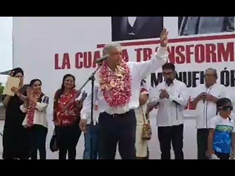 En vivo: AMLO presenta el Programa de Reconstrucción en Ixtepec, Oaxaca