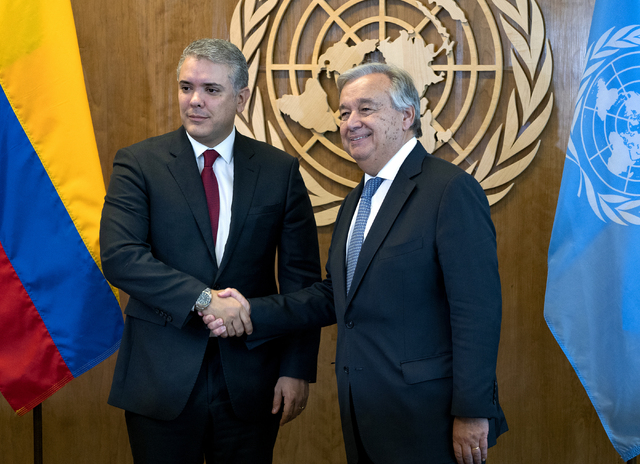 "Presidente de Colombia promueve en la ONU ""asfixiar"" a Venezuela"