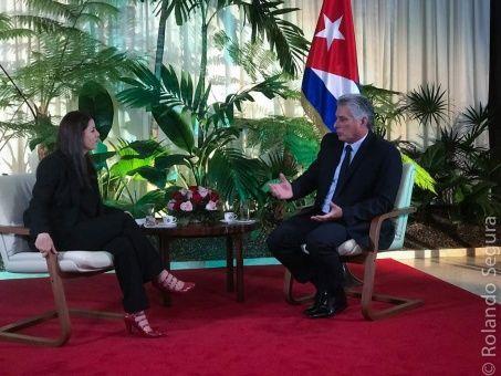 Cuba nunca renunciará a la Revolución y ni acepta imposiciones de EU, afirma su presidente, Miguel Díaz-Canel