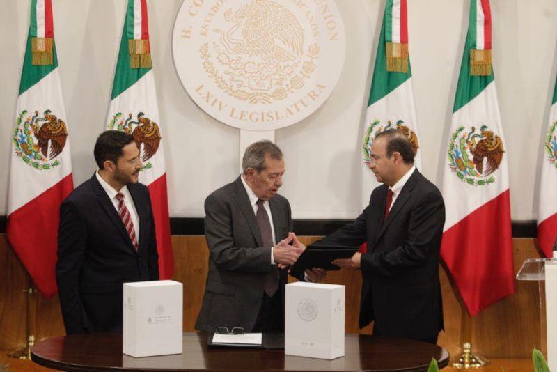 Navarrete entregó sexto informe de gobierno en Congreso de la Unión
