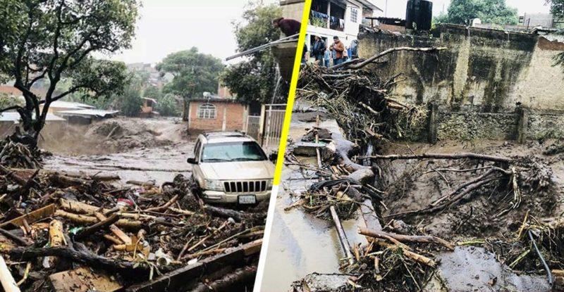 Videos: Diluvio sin precedente en Peribán, Michoacán, causa 7 muertes y 8 desaparecidos