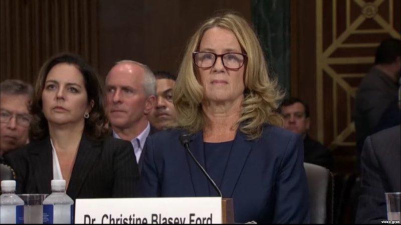 Kavanaugh dañó mi vida, dice a senadores la acusadora del candidato a juez de la Corte Suprema