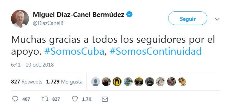 Díaz-Canel, primer presidente de Cuba en tuitear