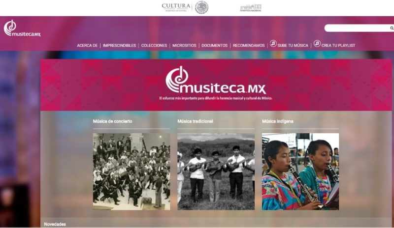 Secretaría de Cultura mexicana lanza proyecto en internet: 'Musiteca.mx'