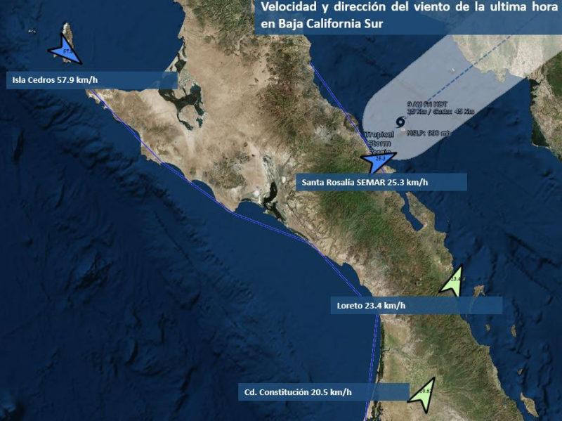 Declaratoria de emergencia para municipios de BCS por 'Sergio'