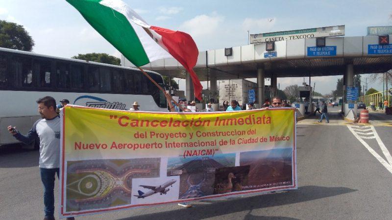 Campesinos de Atenco piden cancelación inmediata del NAICM