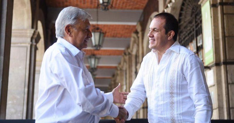 AMLO se reúne con Cuauhtémoc Blanco, Gobernador de Morelos, como parte de su gira de agradecimiento
