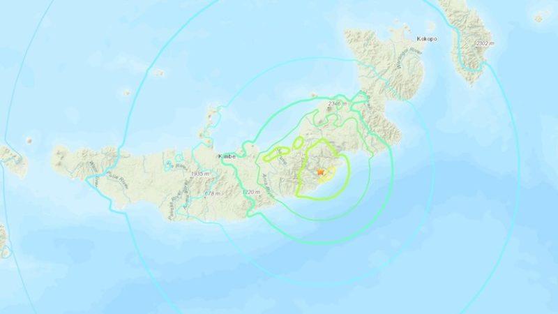 Sismo de 7,0 sacude Papúa Nueva Guinea