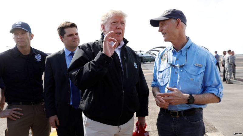 Tras ver la devastación del huracán en Florida,Trump empieza a creer en el peligro del cambio climático