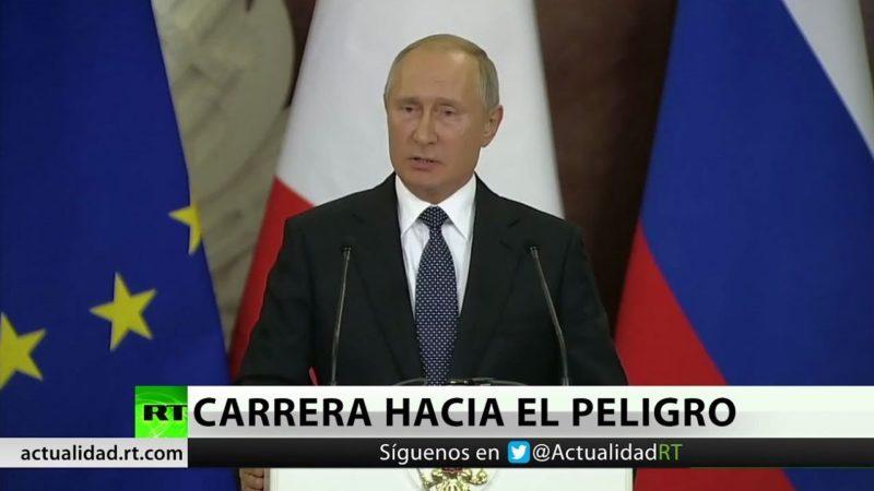"""Videos: Putin: Sin los tratados sobre misiles """"no quedará nada más que una carrera armamentista"""""""