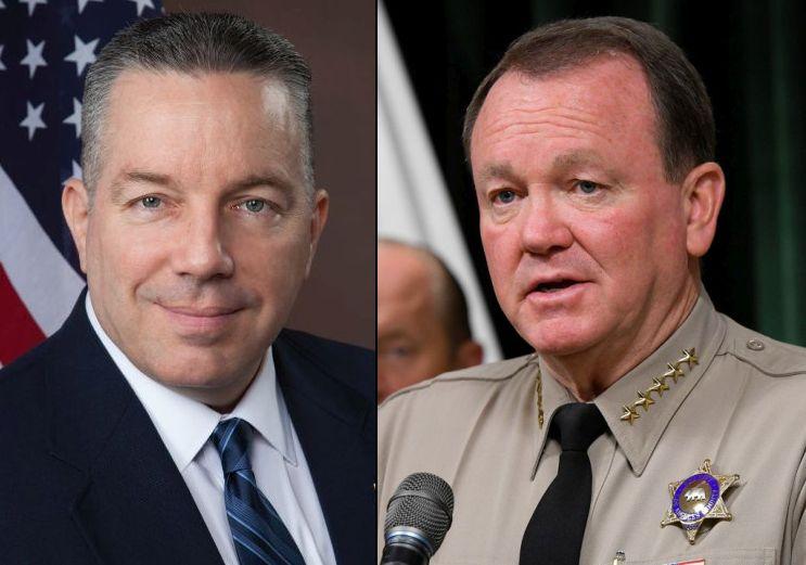 El latino Alex Villanueva lleva la delantera en la elección del titular del Sheriff de Los Angeles