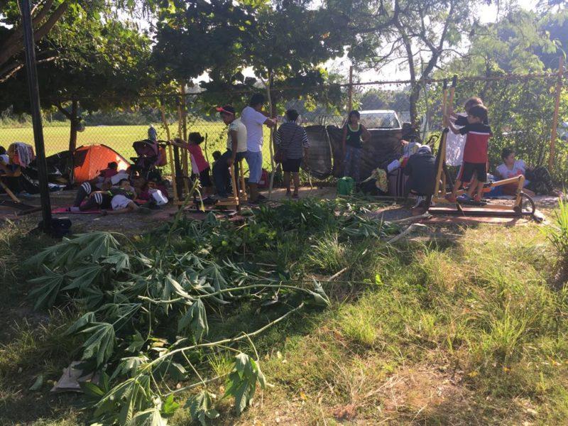 Llega Caravana migrante a Matías Romero, Oaxaca