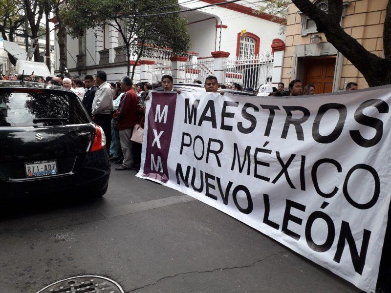 Video: Grupo magisterial ligado a Gordillo plantea congreso a AMLO y desconoce a Alfonso Cepeda