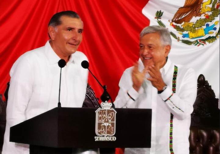 Ante AMLO, Adán Augusto López Hernández toma posesión como gobernadora de Tabasco